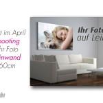 Angebot im April Fotoshooting und Ihr Foto auf Leinwand 40x60cm