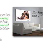 Angebot im Juni Fotoshooting und Ihr Foto auf Leinwand 2 Stck 40x60cm