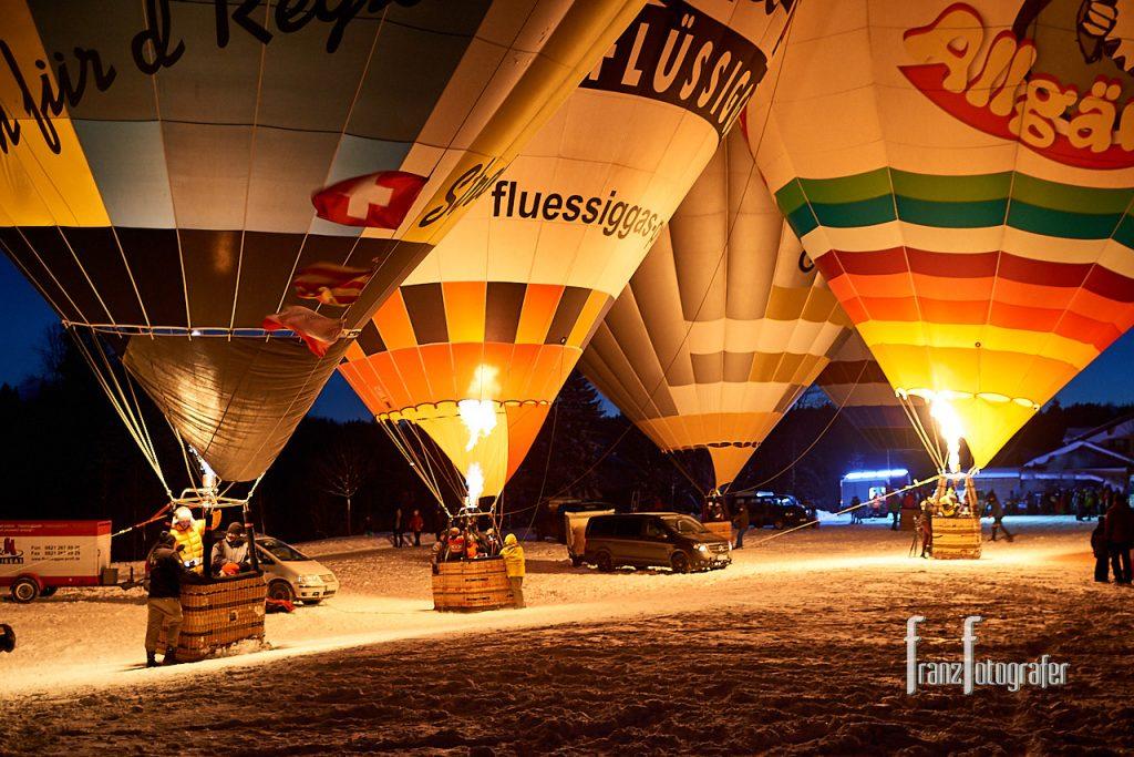 Ballonglühen in Wertach