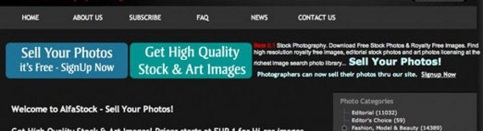 Sell Your Photos – AlfaStock.net